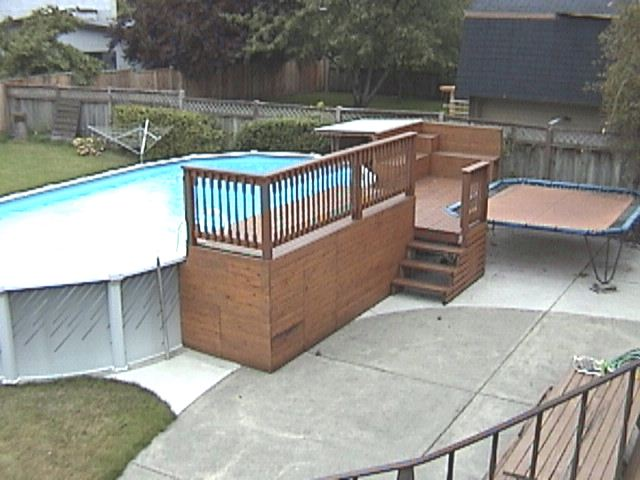 how to build a platform deck for above ground pool